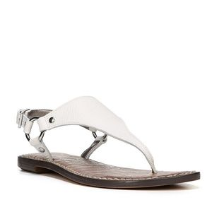 Sam Edelman Womens Leather Greta Sandals WHITE